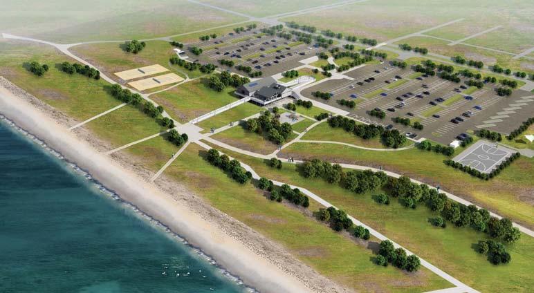 Hammonnasset State Park aerial view