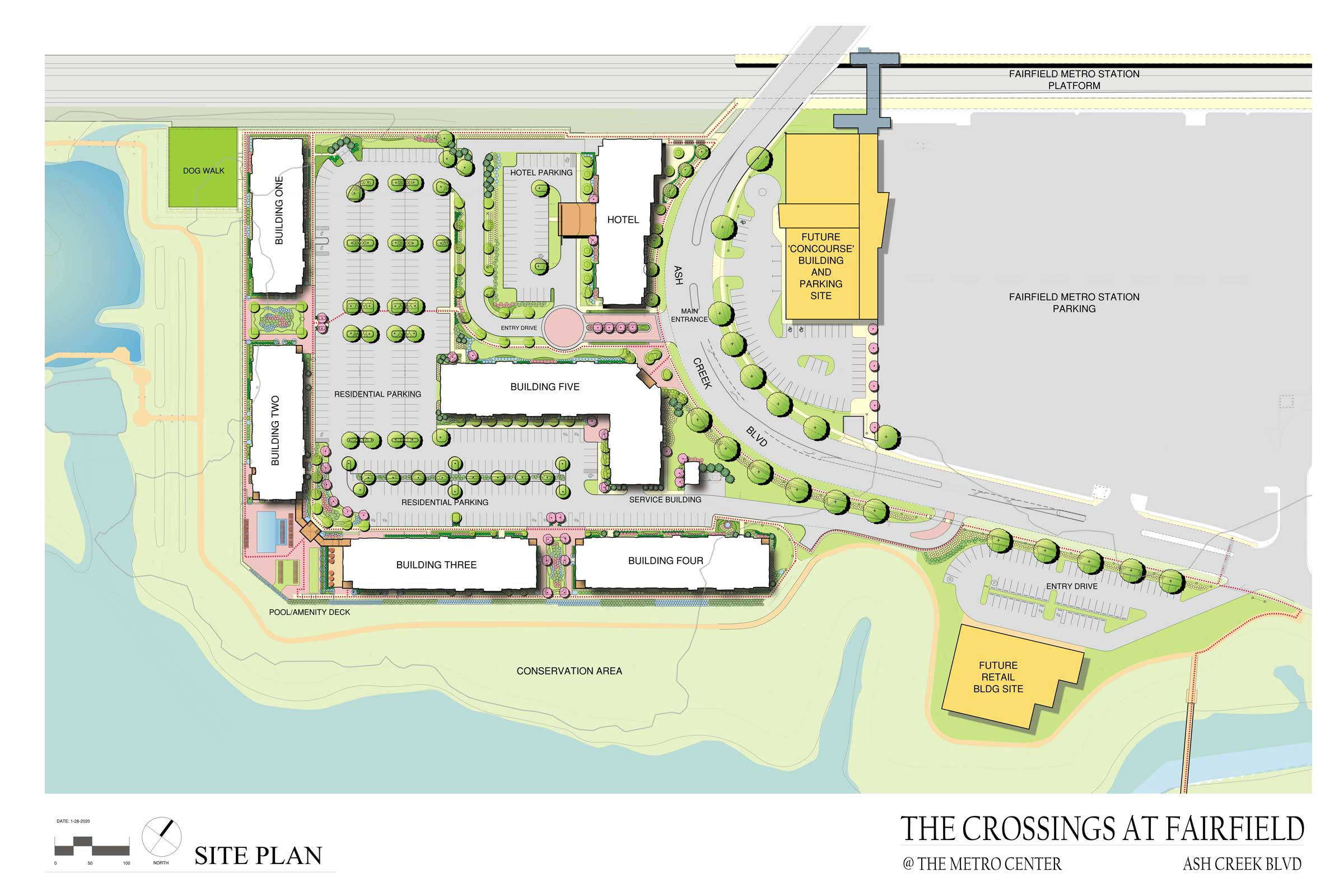 site plan for crossings at fairfield metro